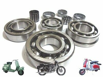 Lambretta Gp Li Sx Tv 125 150 200  Series 1, 2 &3 Engine Bearing Kit Spares2U