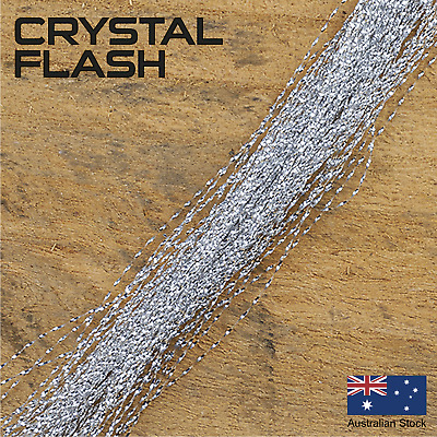 Silver Crystal Flash - Krystal, Fly Tying Materials, Snapper, jig assist