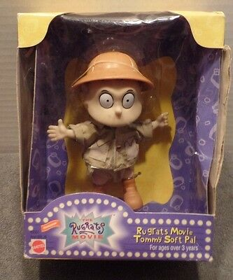 1998 Mattel Nickelodeon Rugrats Movie Tommy Figure Soft Pal 3+ SEALED BOX WEAR