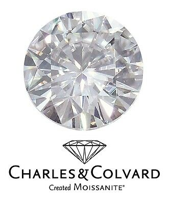 1ct eq 6.5mm Round Brilliant Cut Charles & Colvard Moissanite Loose Stone