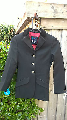 JUST TOGS Black SHOW JACKET, Child size, 8yrs, NWT
