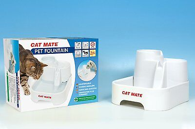 Cat Mate Fresh Water Drinking Fountain for Cats and Dogs Pussy Puppy Fun Hydrate