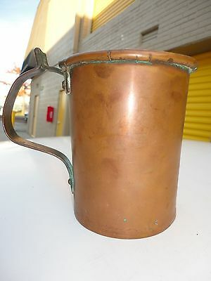 Antique copper  Russian  Coffee/ wash cup with big Handled.  Rare art deco mug