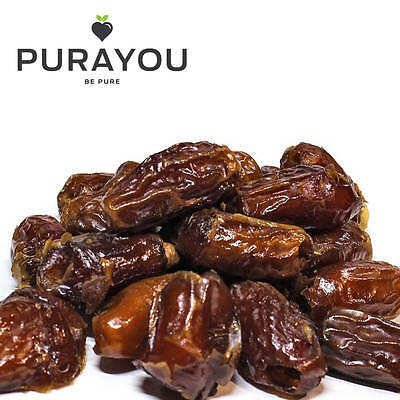 Dates Dried Whole Pitted A Grade Premium Quality 500g - Free UK Shipping
