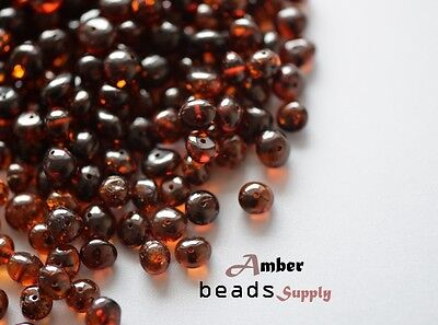 50 grams Drilled 6-8 mm polished natural BALTIC AMBER beads for jewelry making