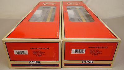 Lionel #6-29010 Chesapeake & Ohio Heavyweight 2 Car Passenger Add On Set-Mib!