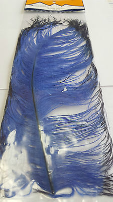 "SPIRIT RIVER  TIP DYED OSTRICH   ""Blue/Black""    FREE SHIPPING worldwide"