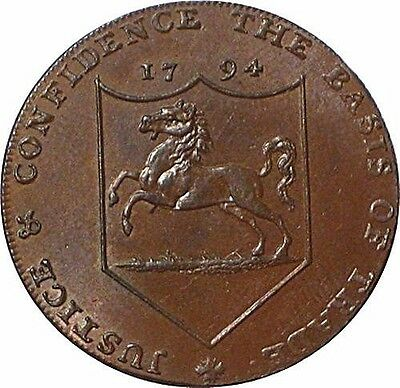 Kent DH-30 18th Century Conder Token UNCIRCULATED!