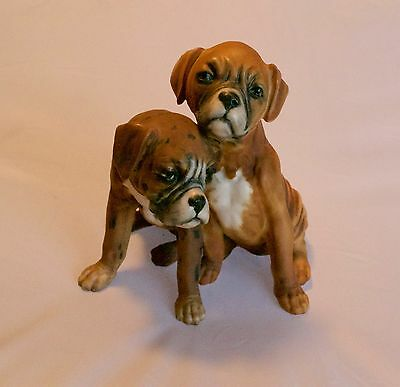 Kaiser Germany Boxer Puppies Figurine Signed G Kaiser No 653