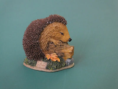 Cute Hedgehog With Leaves Ornament Figurine Collectable