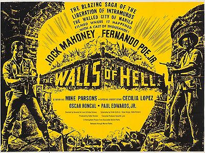 "The Walls of Hell 16"" x 12"" Reproduction Movie Poster Photograph"