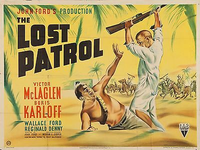 "The Lost Patrol 16"" x 12"" Reproduction Movie Poster Photograph"