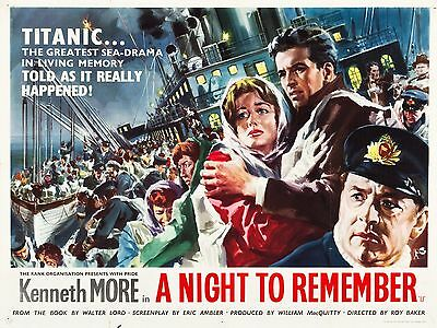 "A Night to Remember 16"" x 12"" Reproduction Movie Poster Photograph"