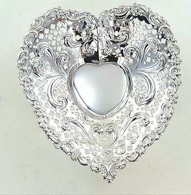 Gorham Sterling Silver .925 Footed Heart Candy Dish 72.5 Grams