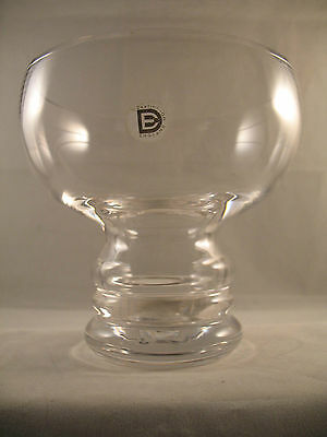 Dartington Glass Large Candle Holder Labelled 1970's