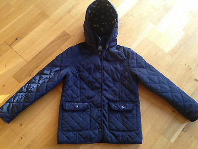 Lovely Girls M&S Marks and Spencer Quilted Winter School Coat Age 9-10, Navy