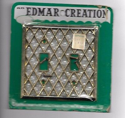 Vintage Edmar Creation Double switch plate cover