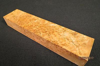 """Cherry  Burl Knife Scale Block 1 9/16"""" X 7"""" Awesome Color And  Figure !!!!!"""
