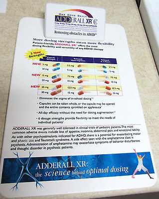 Adderall XR Clipboard Phamaceutical Drug Rep Promo ADHD Advertising Ultra Rare