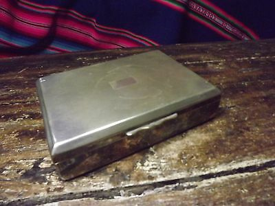 Antique Epns Aristocrat Silver Plate Cigarette Box 5X7X1.5In Tarnished