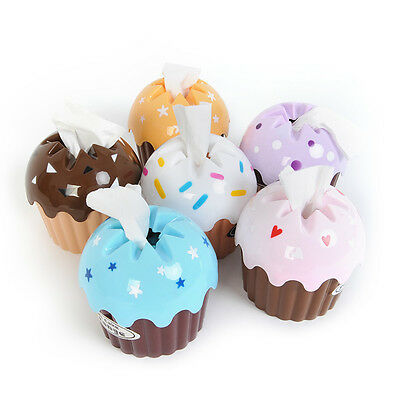 HOT Cute Cupcake Tissue Box Towel Holder Paper Container Dispenser Cover