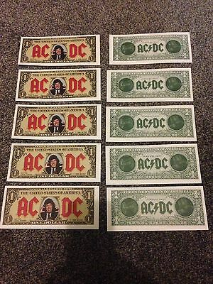 AC/DC 1990 Money Talks Promo Dollar Bill - Angus Young X10