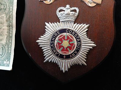 Lancashire Constabulary Great Britain England Wood Police Constable Plaque