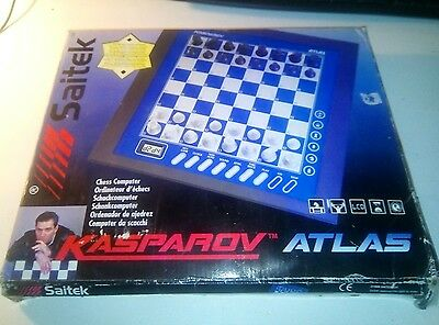 Saitek Chess Computer Gary Kasparov ATLAS working and complete
