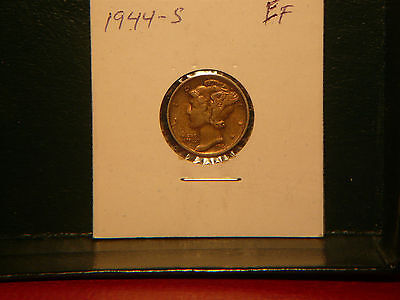1944-S   Mercury Silver  Dime  (90% silver)    Very  Nice  !!!!!