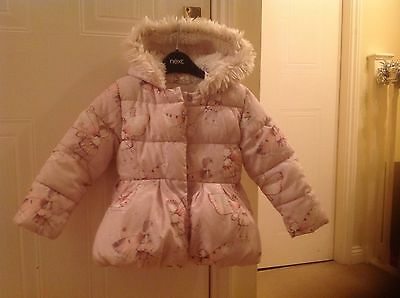 Next Girls Pink Fairy Coat With Hood Age 2-3