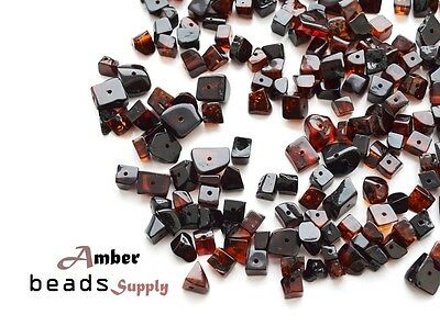 250 units Cherry polished natural BALTIC AMBER BEADS for jewelry making