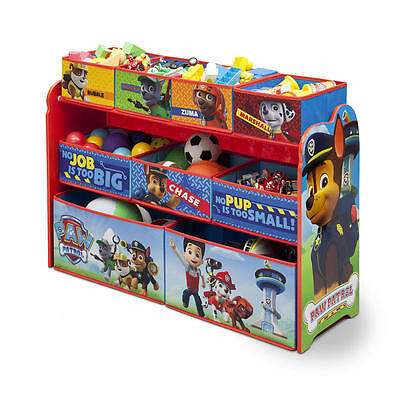 Paw Patrol Toys Storage Deluxe Kids Bedroom Container Organizer Box NEW