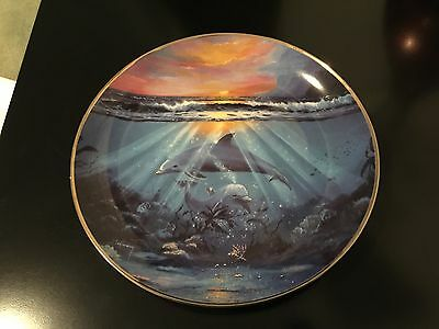Franklin Mint Dance Of The Dolphin Limited Edition Plate