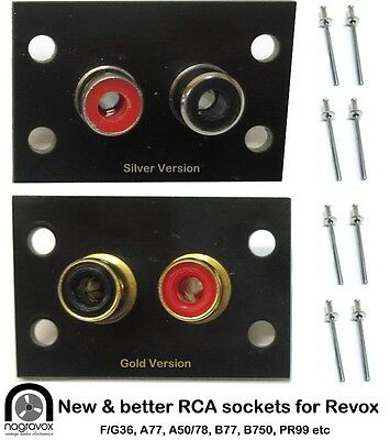 Revox RCA sockets panel  A77, B77, F36, G36, B710, B750, B740 & others
