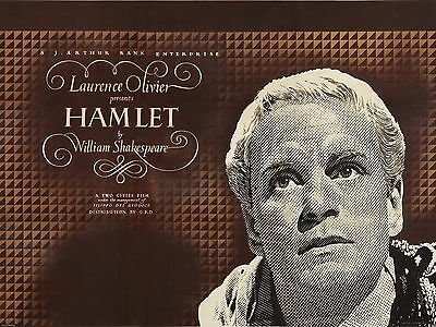 """Hamlet 16"""" x 12"""" Reproduction Movie Poster Photograph"""