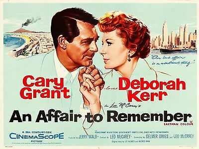 """An affair to remember 16"""" x 12"""" Reproduction Movie Poster Photograph"""