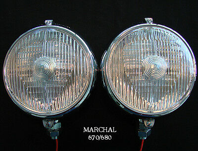 """Marchal 670/680 (5-3/4"""") Driving Lights With 12V. 55 Watt Clear Bulbs"""