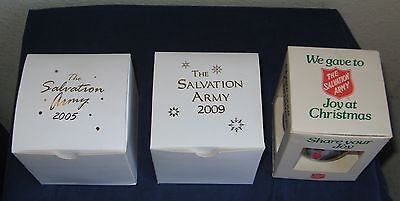 The Salvation Army Christmas Ornaments (lot of 3) 2005, 2009, 1985