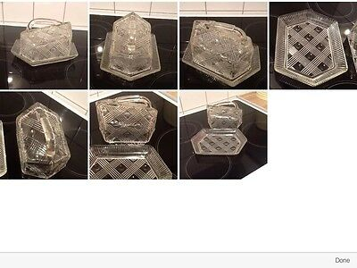 Vintage Pressed Glass Cheese Dish