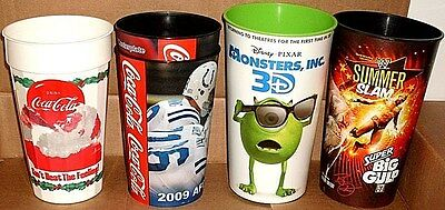 5 Collector's Cup Closeout Coca-Cola/2009 Afc/monsters/wwe New *free U.s. Shipp*