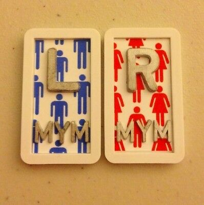 "Set of A WOMAN IS ALWAYS ""RIGHT"" X-Ray Marker Set Radiology Lead Xray Girl"