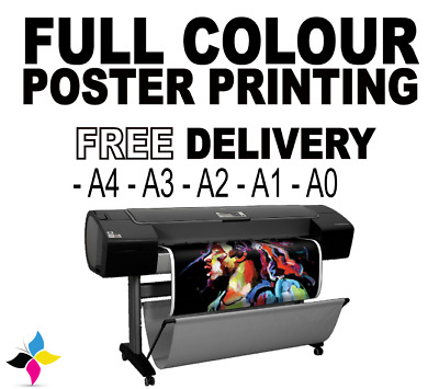 Full Colour Poster Printing A0 A1 A2 A3 A4 Premium Paper200GSM Same-Day Dispatch