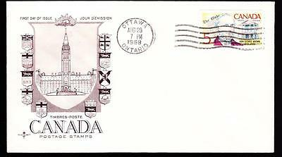 Canada 1968 FDC sc# 484 George Brown on R119 cover, rare date error, unaddressed