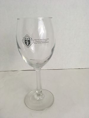 Knights of Columbus K OF C 110th NH State Convention Wine Glass