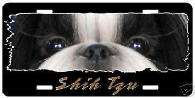 "Shih Tzu # 3   "" The Eyes Have It ""  License Plate"
