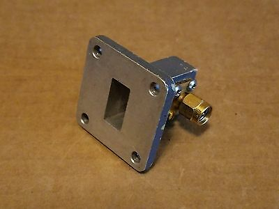 Omni Spectra 20187AP Microwave SMA(m) Coaxial P-Band WR-62 Waveguide Adapter RF