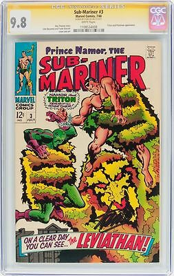 Sub-Mariner #3 Cgc 9.8 White Pages Ss Stan Lee Single Highest Graded #1108534008