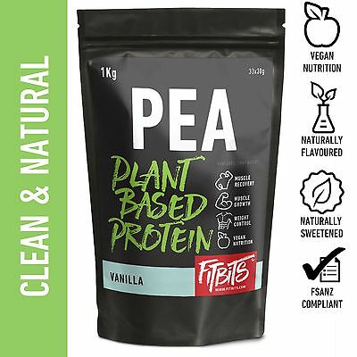 VEGAN PEA PROTEIN POWDER . 1-5kg . GMO & GLUTEN FREE . VANILLA CHOCOLATE & MORE