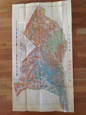 "1901 USDA Soil Map PRINCE GEORGE COUNTY SHEET MARYLAND 23 3/4""  X 42"" Frame it!"