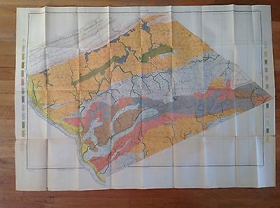 "1901 USDA Soil Map LEBANON SHEET PENNSYLVANIA 45 1/2"" X 32"" IDEAL FOR FRAMING!"
